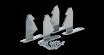 W3 / W4-koneiden asennustarvikesarja kattoasennustelineesseen
