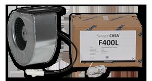 Puhallinpakkaus 400-sarjan L-mallin tulo / poisto